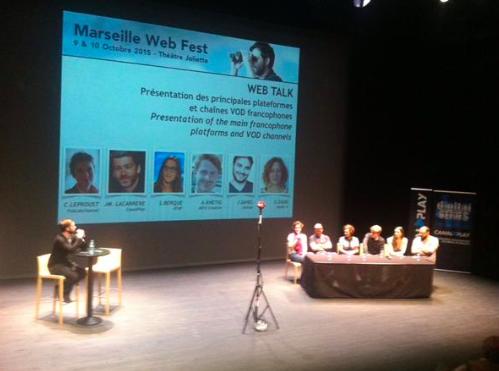 Table ronde au webfest de Marseille sur les chaînes VOD avec Fablabchannel